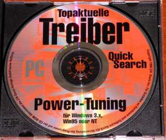 PC Professionell Topaktuelle Treiber-CD Power-Tuning für Windows 3.x, Win95 oder NT Ziff-Davis Inc. 1998