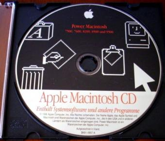 Apple Power Macintosh CD für Modelle: 7500, 7600, 8200, 8500, 9500 Install CD 1996