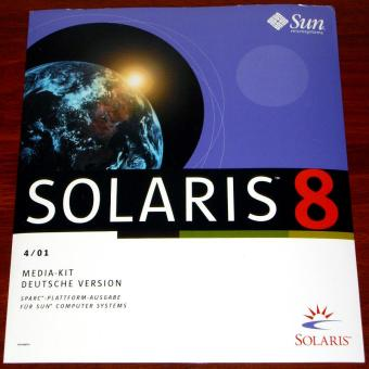 Sun Solaris 8 Media-Kit Deutsche Version Sparc Plattform Ausgabe 4/01 auf 17CDs