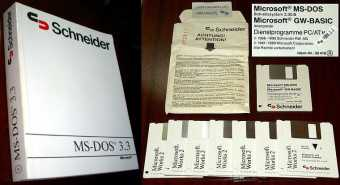 Schneider MS-DOS 3.30B + GW-Basic & MS-Works 2 anno 1989