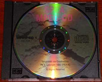 SPEA AG Germany MPEG-CD CreativeDisc TM 1995