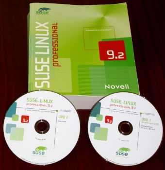 SuSE Linux 9.2 Professional - 2 DVDs Novell 2004