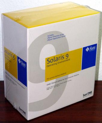 Sun Solaris 9 Operating Environment,  Sparc Platform Edition, iPlanet, CD & DVD Neu/OVP