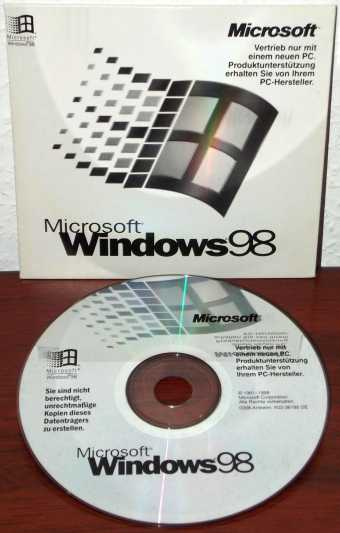 Windows 98 OEM CD