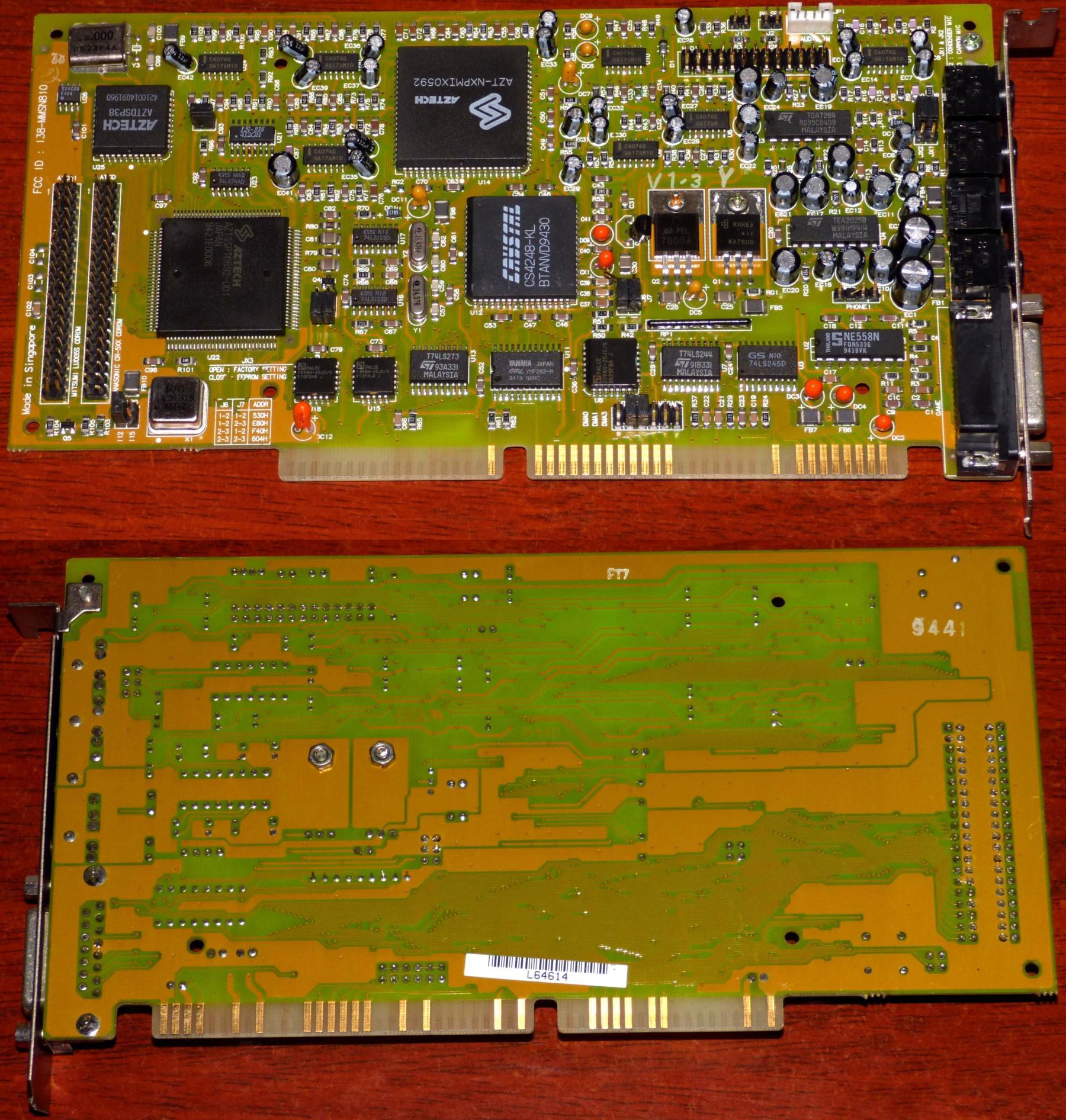 Aztech-Sound-Galaxy-Basic-16-FCC-ID-138-MMSN810-Crystal-CS4248-KL-AZT-NXPMIX0592-AZTDSP38-AZTSSPT0592-U01-Yamaha-OP-YMF262-M-Mitsumi-LU005S-Panasonic-CR-5XX-CDROM-Interface-ISA-Singapore-1994.jpg