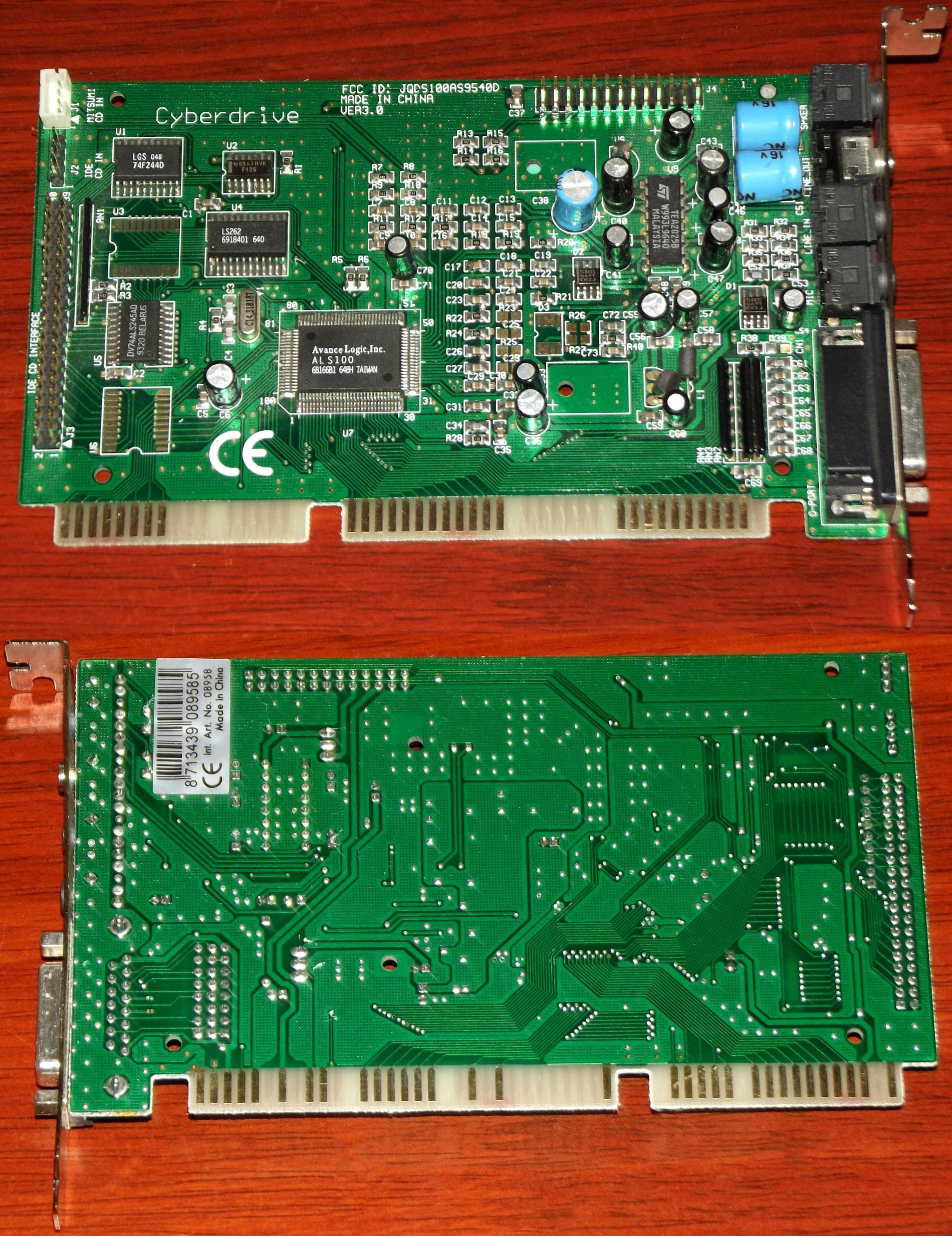 Cyberdrive-Avance-Logic-ALS100-FCC-ID-JQDS100AS9540D-PCI-Soudkarte-mit-IDE-Interface.jpg