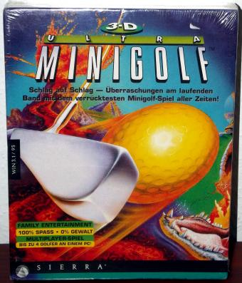 3-D Ultra Minigolf OVP Windows 3.1/95 Sierra 1997