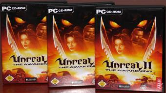 3x Unreal II - The Awakening PC CD-ROMs Epic Games/Legend Entertainment/ATARI 2002