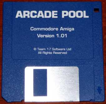 AMIGA Arcade Pool Version 1.01 Diskette Team 17 Software Ltd. 1994