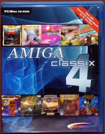 AMIGA Classix 4 Go Retro ultimative 200 Amiga Spiele Compilation PC/MAC CD-ROM Magnussoft 2004
