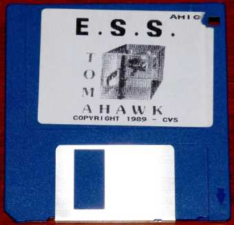 AMIGA European Space Simulator E.S.S Tomahawk Diskette CVS 1989