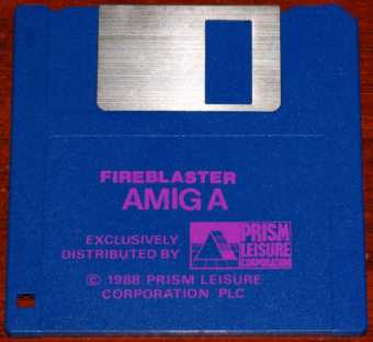 AMIGA Fireblaster Diskette Exclusively Distributed by Prism Leisure Corporation PLC 1988