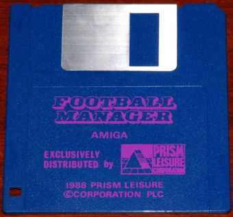 AMIGA Football Manager Diskette Exclusively Distributed by Prism Leisure Corporation PLC 1988
