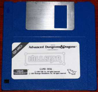 AMIGA Hillsfar Offical Advanced Dungeons & Dragons Computer Product Game Disk SSi/TSR Inc. 1989