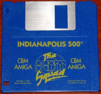 AMIGA Indianapolis 500 CBM Diskette inkl. Handbuch The Squad/Papyrus Design Group/Electronic Arts Ltd. 1989