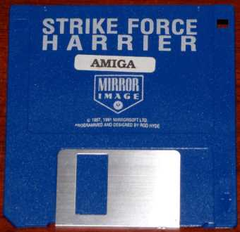 AMIGA Strike Force Harrier Diskette Mirror Image/Programmed and Designed by Rod Hyde/Mirrorsoft LTD. 1987-1991