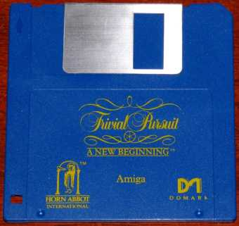 AMIGA Trivial Pursuit - A New Beginning Diskette Horn Abbot International/ODE/Domark 1988