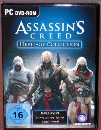 Assassin's Creed Heritage Collection - Creed I/II/III/ Brotherhood/Revelations PC 6 DVDs Ubisoft 2013