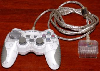 Blaze PlayStation 2 (PS2) Mini Game Pad (white) xploder.net