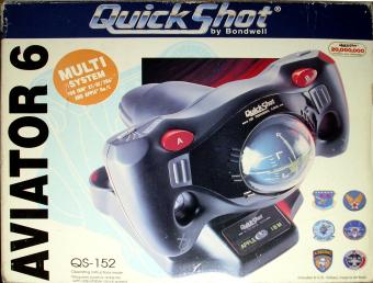 Bondwell QS-152 QuickShot Aviator 6 Game-Joystick IBM XT/AT/386 & Apple IIe/C