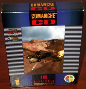 Comanche Operation White Lightning, Global Challenge, Over the Edge, und 10 Bonusmissionen, Helikopterflugsimulation von NovaLogic/Softgold 1994