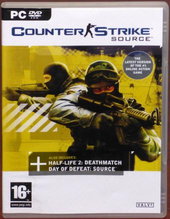 Counter Strike: Source - includes Half-Life 2: Deathmatch & Day of Defeat: Source PC DVD-ROM Valve 2005