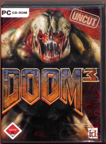 DOOM 3 original US Version UNCUT PC CD-ROMs id Software/ActiVision 2004