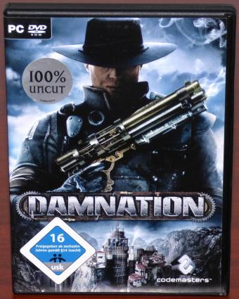 Damnation 100% Uncut PC DVD Blue Omega Entertainment/Codemasters 2007