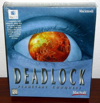 Deadlock Planetary Conquest - Accolade Macsoft 1996 Strategiespiel - MacOS Macintosh OVP Neu