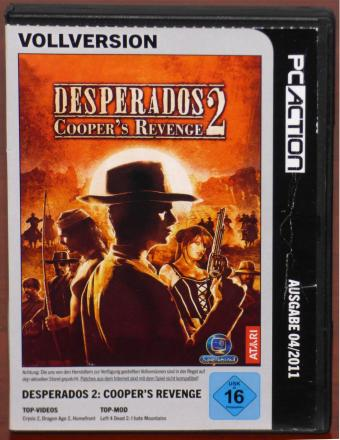 Desperados 2 Coopers Revenge PC Action 04/2011 Vollversion inkl. The Silver Lining Epidsode 1-3 Spellbound/ATARI 2006