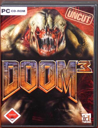 DOOM 3 original US Version Uncut PC CD-ROMs inkl. Referenz-Karte & Komplettlösung id Software/ActiVison 2004