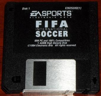 FIFA Soccer International EA Sports 3 Disketten von Electronic Arts 1994