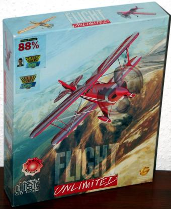 Flight Unlimited - PC Version komplett in Deutsch von Looking Glas/Softgold OVP 1995
