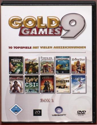 Gold Games 9 Spielesammlung 10 Topspiele Box1, The Bards Tale, Tom Clancys Splinter Cell, Chaos Theory DVD Ubisoft 2005
