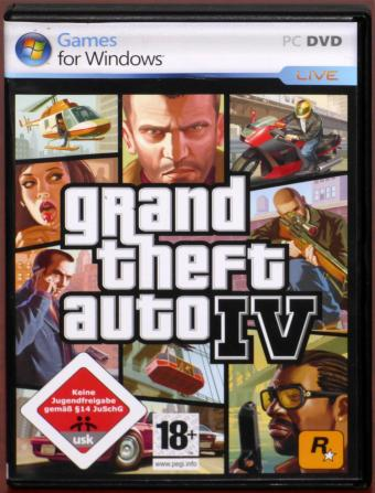 Grand Theft Auto IV PC DVD Live on Liberty City Best of Ausgabe aller Zeiten inkl. Handbuch & Stadtplan Take 2/Rockstar Games 2008