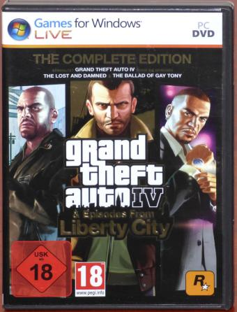 Grand Theft Auto IV The Complete Edition inkl. Episodes from Liberty City 4 PC DVDs inkl. Stadtplan & Reiseführer Take Two GmbH/Rockstar Games Inc. 2010