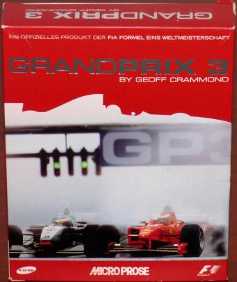 Grand Prix 3 PC CD-ROM FIA Formel Eins Weltmeisterschaft F1 by Geoff Crammond OVP MicroProse/Hasbro Interactive 2000