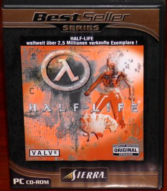 Half-Life PC CD-ROM komplett Deutsche Original Version Valve/Sierra 2001