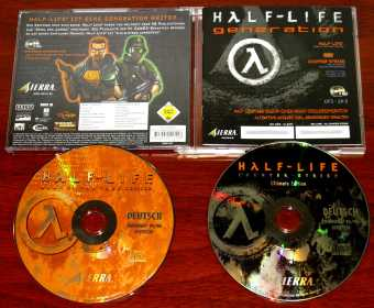 Half-Live Generation - Game of the Year Editon & Counter-Strike Ultimate-Edition 2CDs Valve Sierra 1998