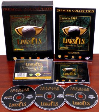 Links LS Edition 1997 Premier Collection - Legenden des Sports Golf Simulation MS-DOS/Win95 PC CD-ROMs Deutsches Handbuch Access Software Incorporated/Eidos Interactive OVP Bigbox 1996