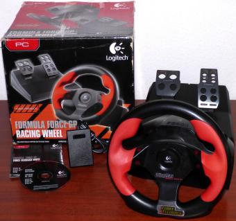 Logitech Formula Force GP Racing Wheel PC USB Force Feedback Lenkrad OVP