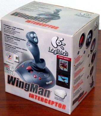 Logitech WingMan Interceptor Joystick 9 Buttons 3 Hat-Switches MN: J-YG8 PN: 863147-0000