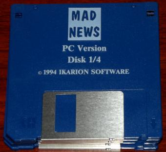 Mad News - 4 Disketten PC Version von Ikarion Software 1994