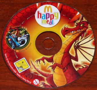 McDonald's happy meal Digitale Erlebniswelt roter Drache CD-ROM Hong-Kong 2008
