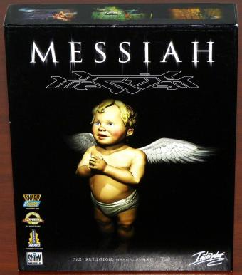 Messiah - Sex, Religion, Besessenheit, Tod inkl. Game-Zeitungs Berichte & Update-CDs OVP in Bigbox, ShinY/Interplay 1999