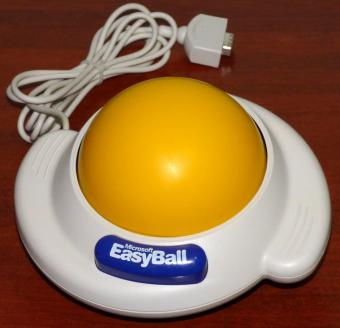 Microsoft EasyBall Version 1.0 Part-No. 67042 FCC-ID: C3KPEB1 RS232 ca. 10cm Serial-No. 7838 Gold Award from the Industrial Designers Society of America (IDEA) 1996