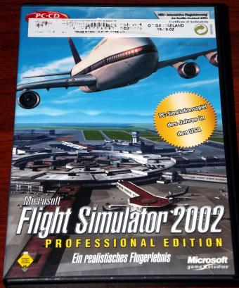 Microsoft Flight Simulator 2002 Professional Edition auf 3 CDs