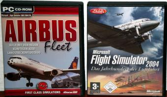 Microsoft Flight Simulator 2004 inklusive Airbus Fleet Add-on CD