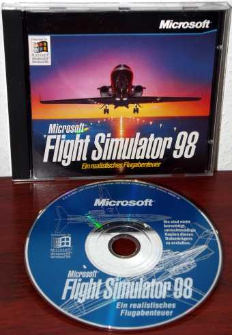 Microsoft Flight Simulator 98 CD mit Cover