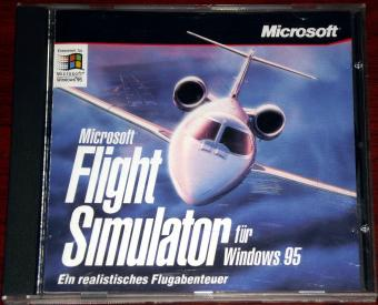 Microsoft Flight Simulator für Windows 95, CD im Jewelcase